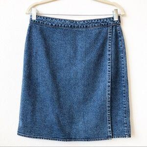 Gap Wrap Denim Skirt Size 8